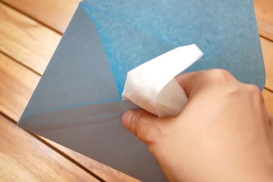 Passo a passo para fazer envelope de papel