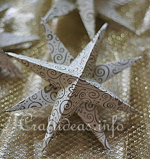 Como fazer decoração com estrela de papel com origami