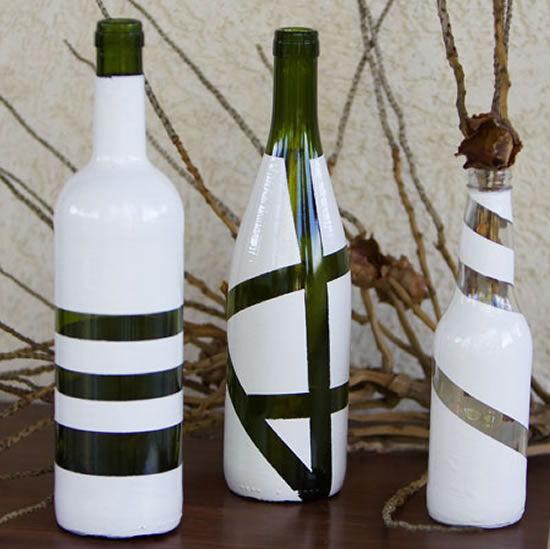 Garrafa de vidro decorada passo a passo