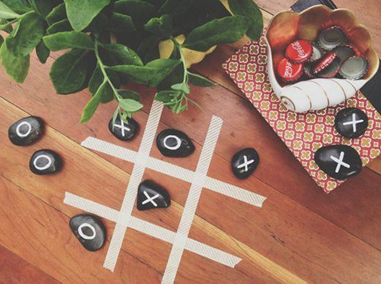 Adesivo Para Box De Banheiro ~ Decoraç u00e3o para jardim com jogo da velha artesanal