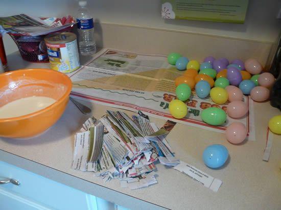Ovos de Plástico para Decoração