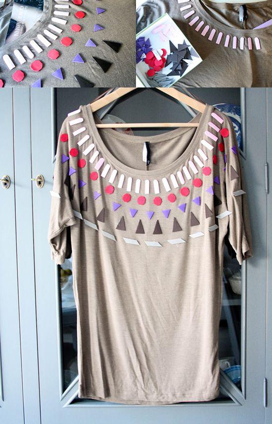 Camisa personalizada com palitos de picolé e madeirite