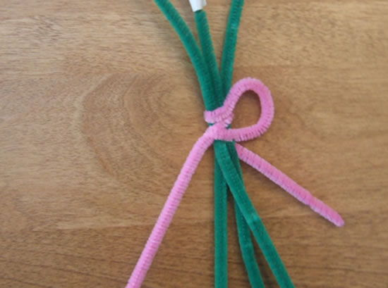 Limpadores de cachimbo coloridos para fazer artesanto