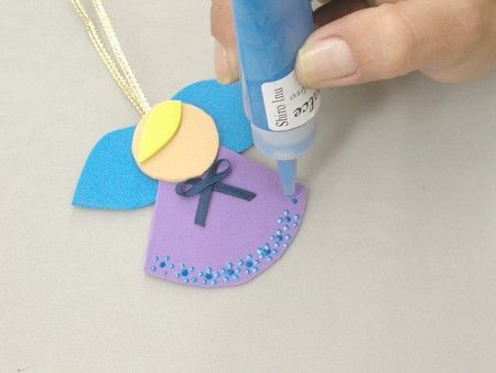 Criando artesanato em casa - Anjinhos feitos de EVA