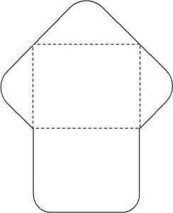 Molde para fazer envelope