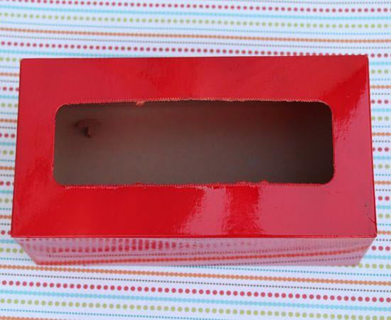 Artesanato com caixa de tecido