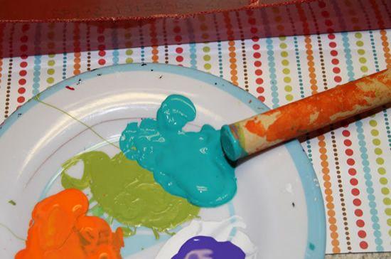 Tintas de artesanato para pintar o monstrinho
