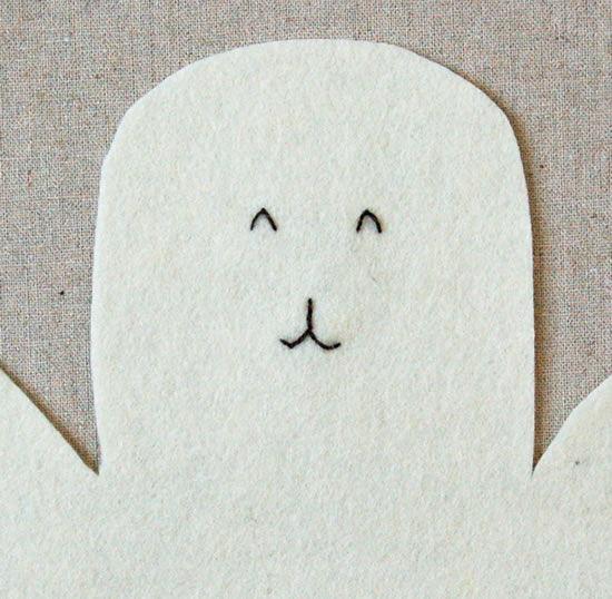 Cara do coelho com costura