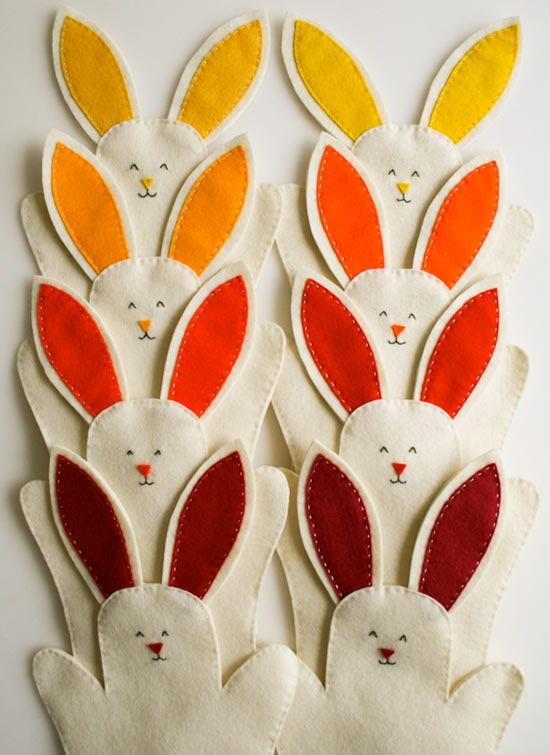 Como fazer coelhinho de Páscoa de feltro