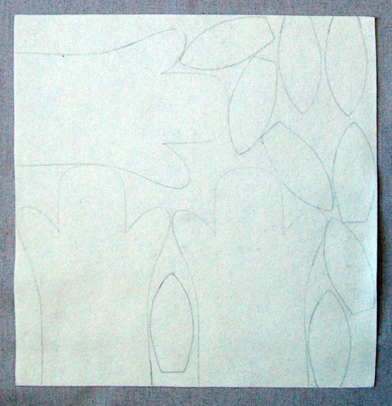 Moldes do coelhinho transcritos no feltro