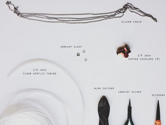 Materiais para fazer acessório colar de bijuteria