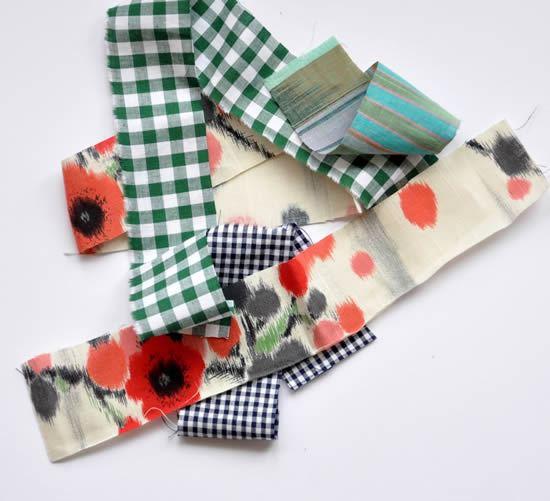Como fazer colar com retalhos de tecido