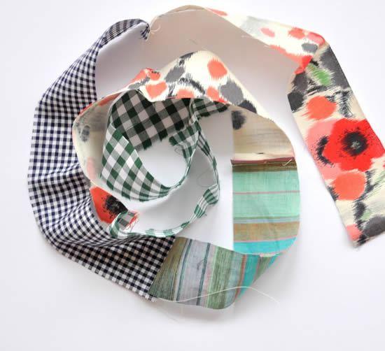 Como fazer colar de tecido artesanal