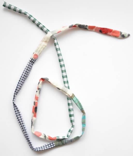 Como fazer colar de tecido com patchwork
