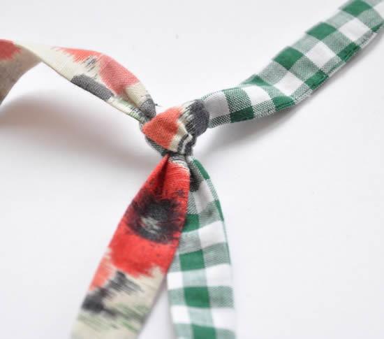 Colar de tecido artesanal super fácil de fazer