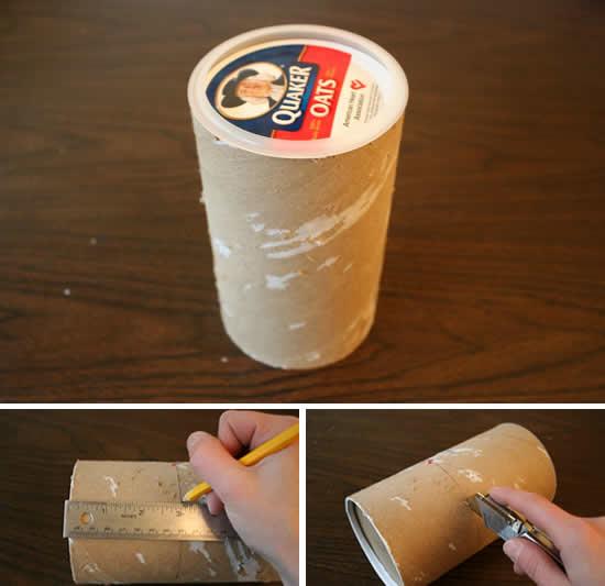 Como fazer artesanato reciclando potinho de papelão