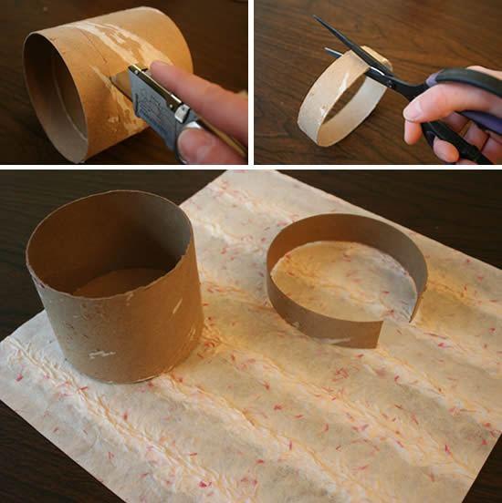 Jarro de papelão com reciclagem de pote