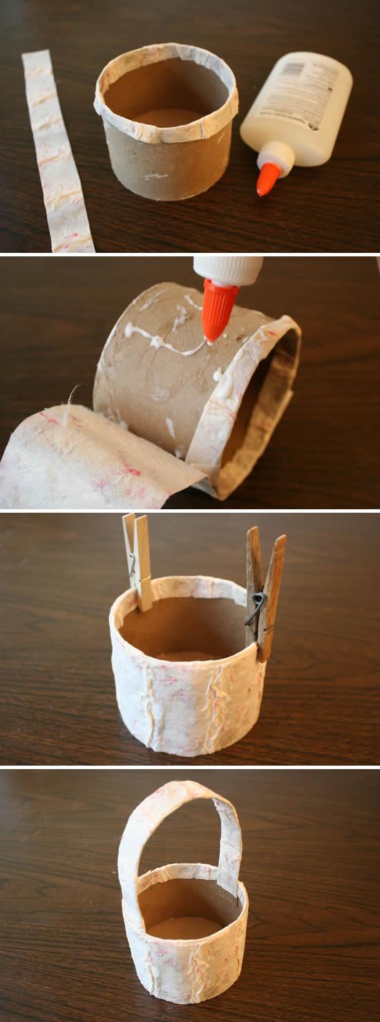Como fazer artesanato reciclando pote de papelão