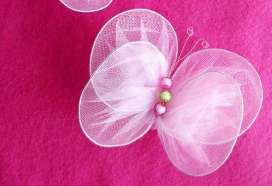Como fazer borboleta de arame e tecido