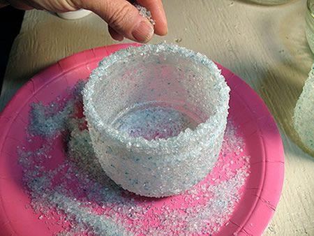 Confecção de potes de vidros decorados passo a passo