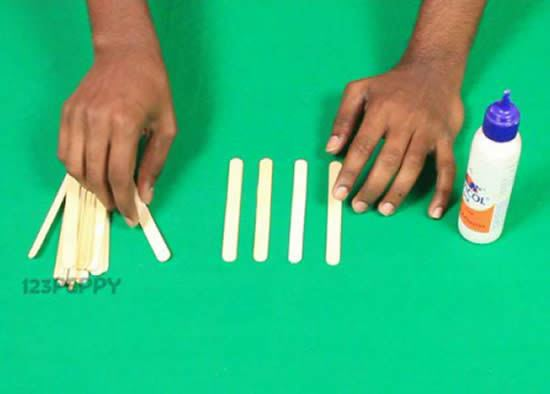 Palitos de picolé para fazer artesanato