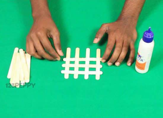 Como fazer artesanato com palitos de picolé passo a passo