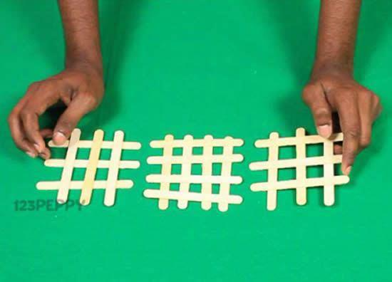PAP de artesanato com palitos de picolé