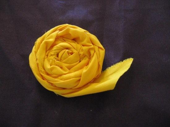 Flores de tecido fáceis de fazer