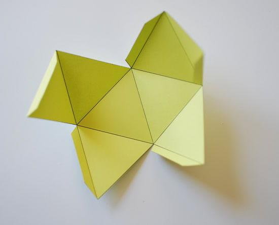 Decoração com cubos de origami passo a passo