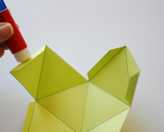 Decoração passo a passo de móbile de origami