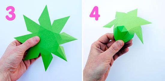 Passo a passo de decoração com origami