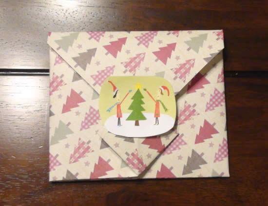 Envelope de origami passo a passo