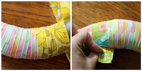 Guirlanda de tecido fácil de fazer em casa
