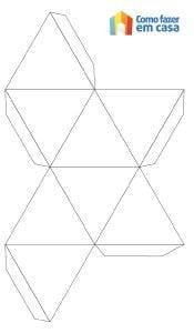 Molde de cubo de papel