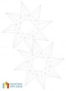 Molde para fazer diamante de papel