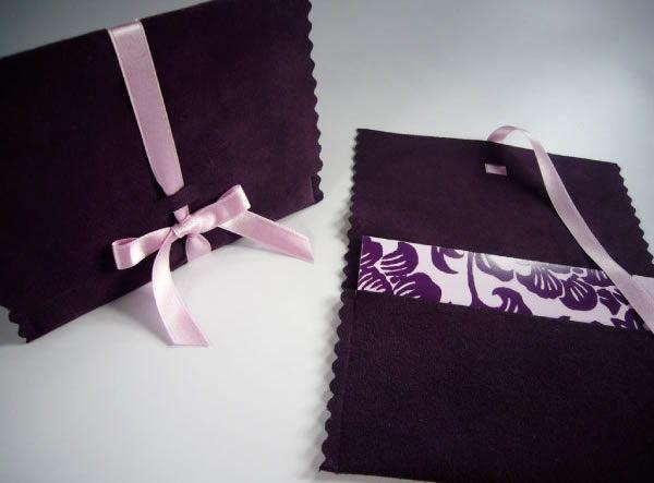 Envelope de camurça para o Dia das Mães