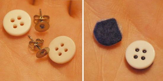 Como fazer brinco de botão