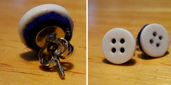 Criando brinco de botão passo a passo