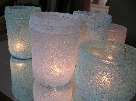 Potes de vidro para presente do Dia das Mães