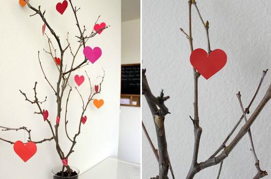 Decoração de Árvore de Coração passo a passo