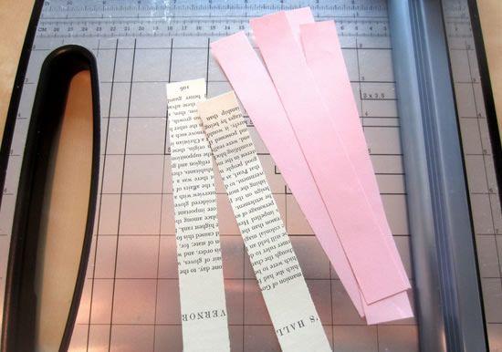 Tiras de papel para fazer artesanato