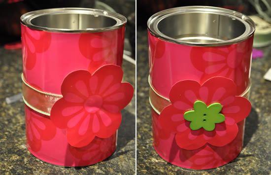 Como fazer um presente para a mamãe reciclando lata