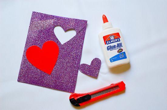 Criando o coração para ser marcador de livros