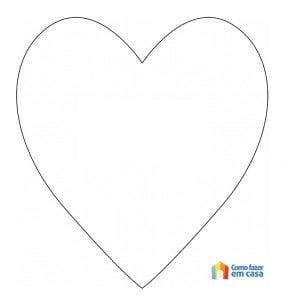 Lindo molde de coração para fazer artesanato