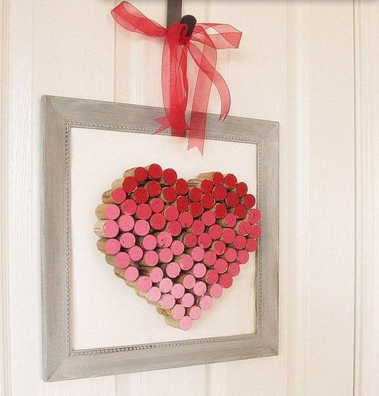Laço de tule para colocar no quadro de coração