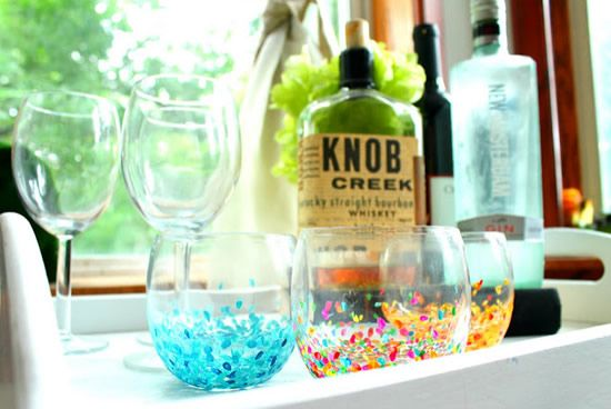Como decorar vasos de vidro com tinta e pincel Home decor hacks pinterest