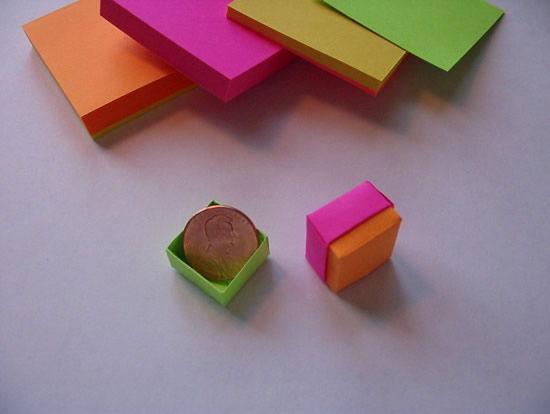 Como fazer uma linda caixinha de origami passo a passo