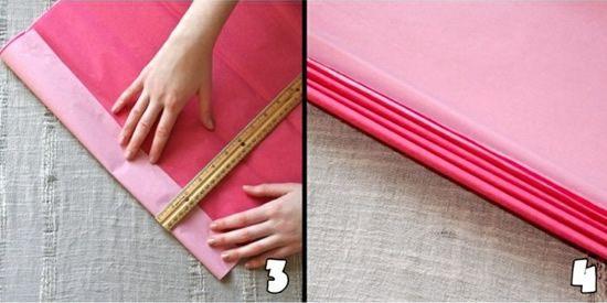Criando artesanato com papel de seda