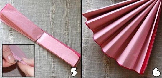 Criando flor de papel de seda passo a passo