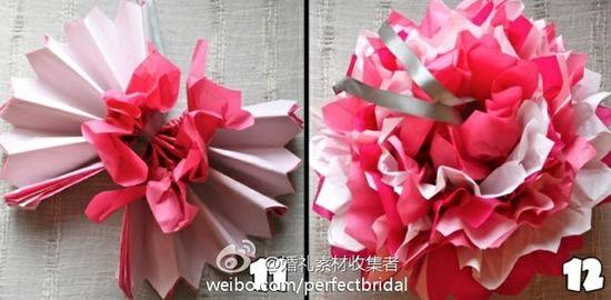 Como fazer flores de papel de seda - PAP